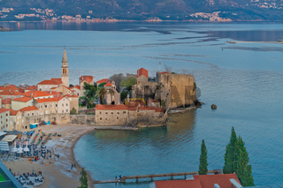 Old Town in Budva from above