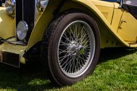 Classic antique car vintage wire wheel