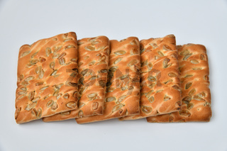 The dietetic biscuits with a sunflower seeds