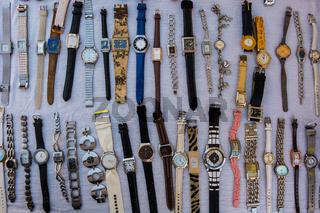 Wrist clocks for sale.