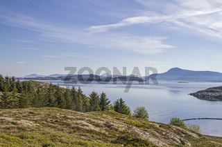 Fjordlandschaft in Lauvoya