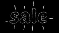 written sale, animated type chalk, ideal for themes such as online commerce, 4k resolution
