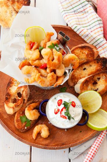 Leckere Popcorn Shrimps