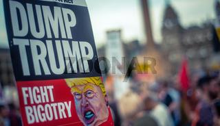 Trump Protest Sign