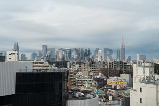 Tokio, Japan, Stadtpanorama von Tokio