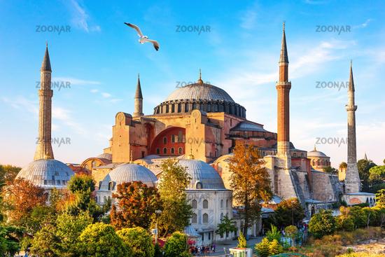 Famous Hagia Sophia Mosque in Istanbul, Turkey