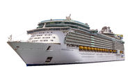 Cut out image of the royal caribbean ship Independence of the seas.