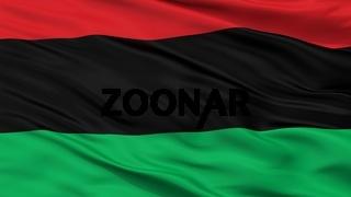 Panafrican Unia Afro American Black Liberation Flag Closeup