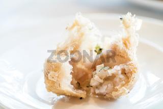 Fried taro dumplings