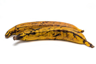A pair of plantain on a white background