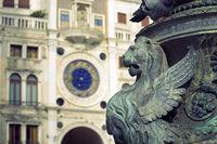Venice lion sculpture