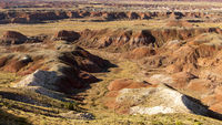 Badland Rock Formations Petrified Forest National Park Arizona United States