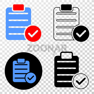 Accept Pad Text Vector EPS Icon with Contour Version