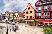 Half-timbered houses in the historic center of Selestat