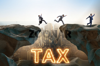 Businessman in tax payment concept