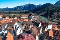 View over the german town Füssen in Bavaria