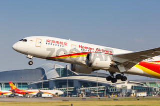 Hainan Airlines Boeing 787-8 Dreamliner airplane Guangzhou airport