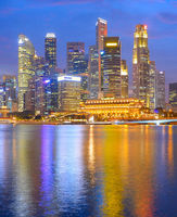 Singapore Downtown at twilight