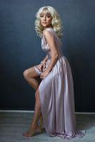 beautiful girl in pink dress