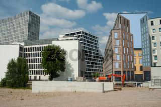 Berlin, Deutschland, Neubauten und Baugrundstueck Heidestrasse in der Europacity