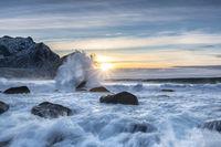 Strand von Unstad auf den Lofoten