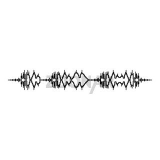 Soundtrack pulse music player audio wave equalizer element floating sound wave icon