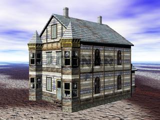 altes Landhaus mit Türmchen
