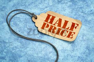half price tag price