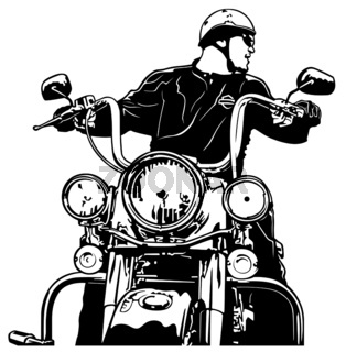 Motorcyclist Front View