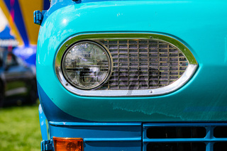 Old American classic car half front side