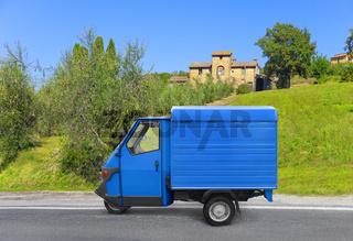 Schöner typischer italienischer Kleintransporter