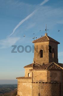 Parish church of Yaso. Guara mountains. Huesca. Aragon. Spain.