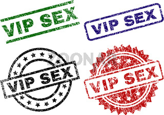 Scratched Textured VIP SEX Seal Stamps