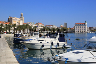 Split, Kroatien, Stadthafen
