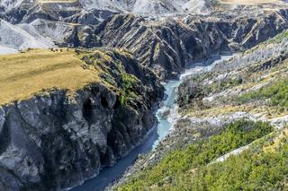 Neuseeland Südinsel - Skippers Canyon bei der Skippers Bridge an der Skippers Canyon Road nördlich von Queenstown in der Otago Region