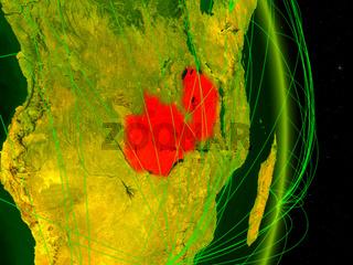 Zambia on digital Earth