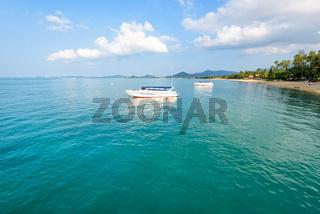 Sea at Na Phralan beach in Samui island