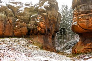 Felsformationen im Zittauer Gebirge Kelchstein