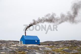 Waste incinerator in Rodebay, Greenland