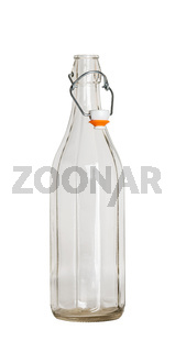 Glass bottle with a  wire bail clasp ceramic stopper