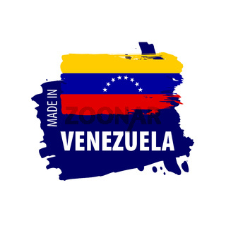 Venezuela flag, vector illustration on a white background