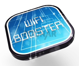 Wifi Booster Wireless Extension Repeater 3d Rendering