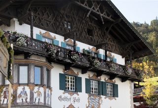 Gebäudeansicht Gasthof Post, Wallgau