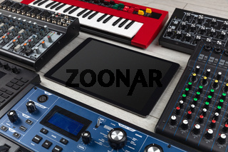 Tablet and electronic music instruments