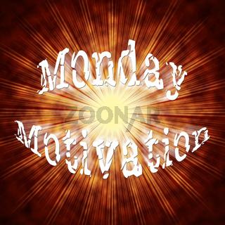 Monday Motivation Quotes - Inspirational Saying - 3d Illustration