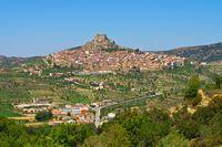 die alte mittelalterliche Stadt Morella, Castellon in Spanien - the old medieval town of Morella, Castellon in Spain