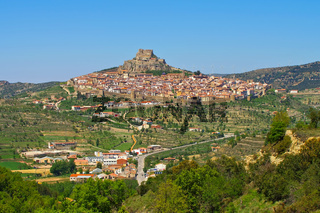 die alte mittelalterliche Stadt Morella, Castellon in Spanien - the old medieval town of Morella, Castellon in Spain