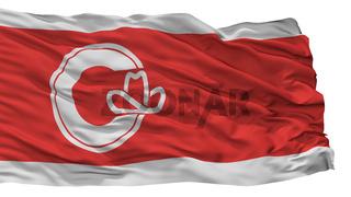 Calgary City Flag, Canada, Alberta Province, Isolated On White Background