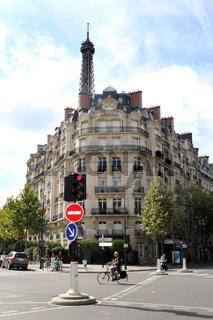 Wohnviertel am Eiffelturm