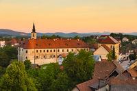 Panorama of Metlika, Slovenia, Europe.